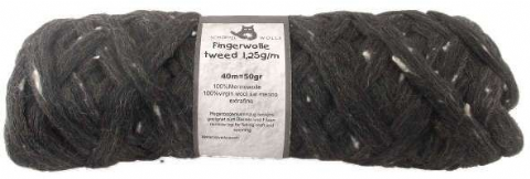 Schoppel-Wolle FINGERWOLLE TWEED anthracite 8890M